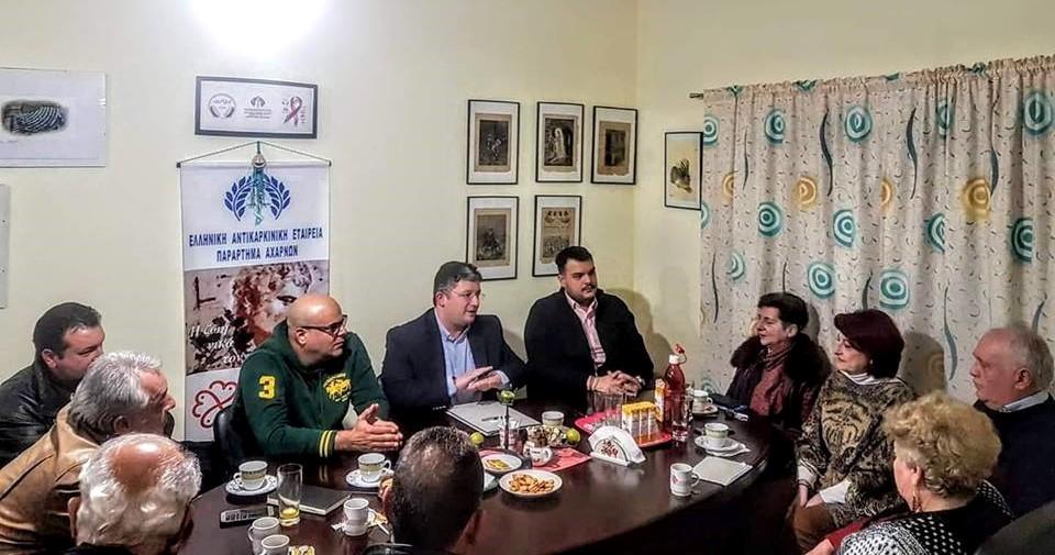 Επίσκεψη στην Ελληνική Αντικαρκινική Εταιρεία Αχαρνών από τον Σπύρο Βρεττό και μέλη του Συνδυασμού του «ΑΧΑΡΝΕΣ Υπερήφανος Δήμος»