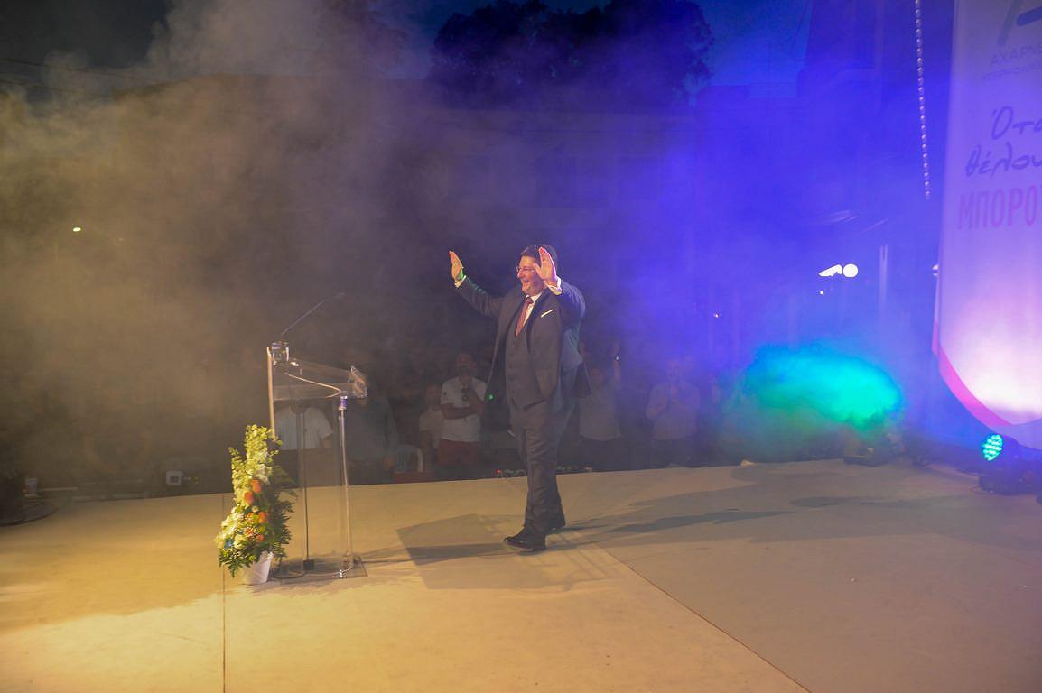 Εντυπωσιακή ατμόσφαιρα στην κεντρική συγκέντρωση του υποψήφιου Δημάρχου Σπύρου Βρεττού