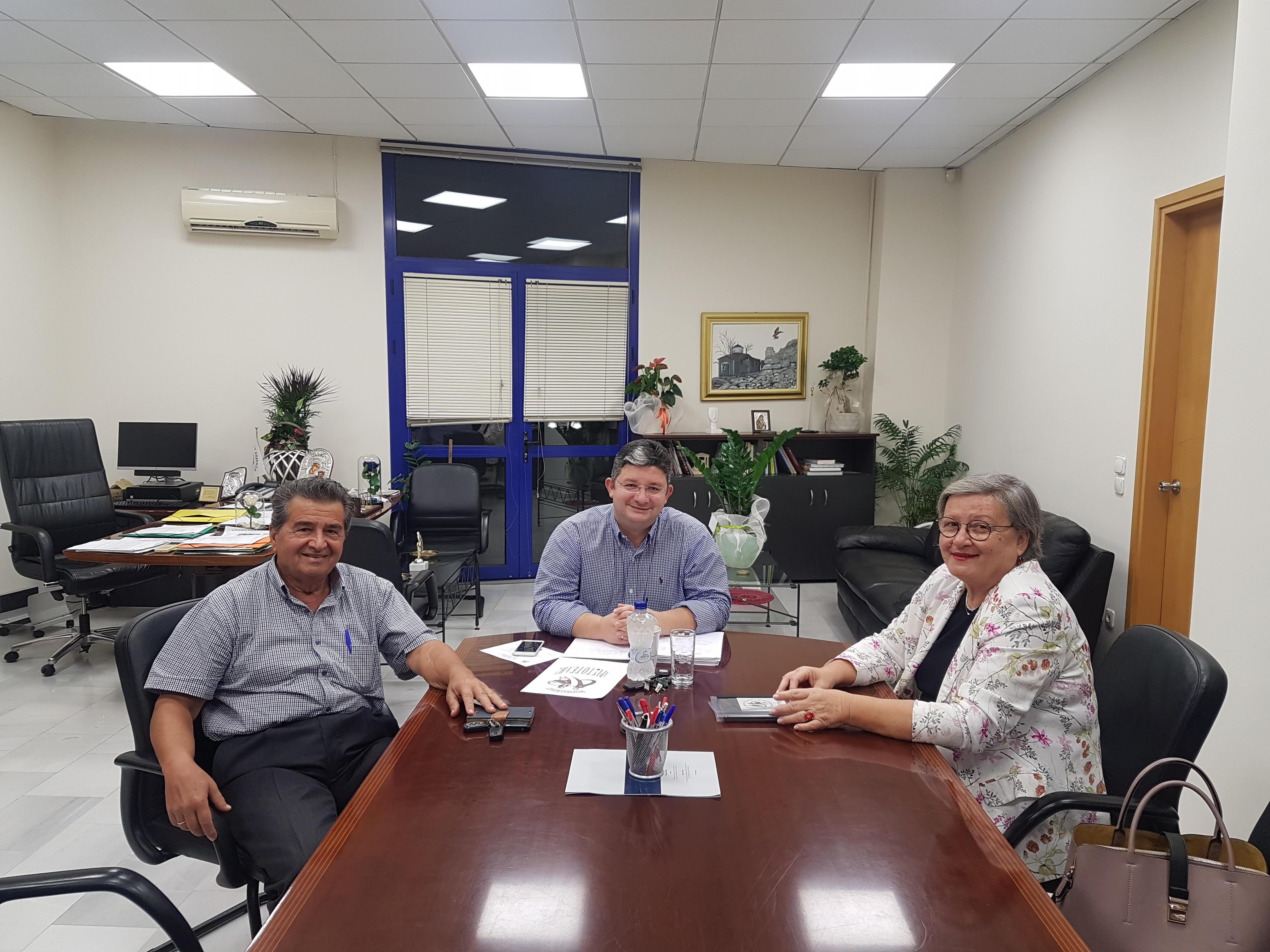 Εκπροσώπους του «Αριστοτέλη» συνάντησε ο Δήμαρχος Αχαρνών